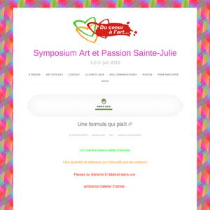 Symposium Art et Passion Sainte-Julie